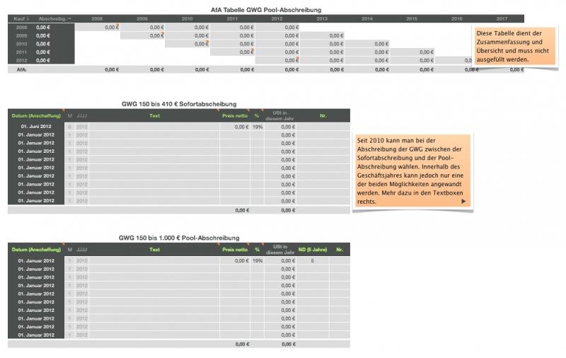 numbers vorlage einnahmen berschuss rechnung 2012 mit ust. Black Bedroom Furniture Sets. Home Design Ideas