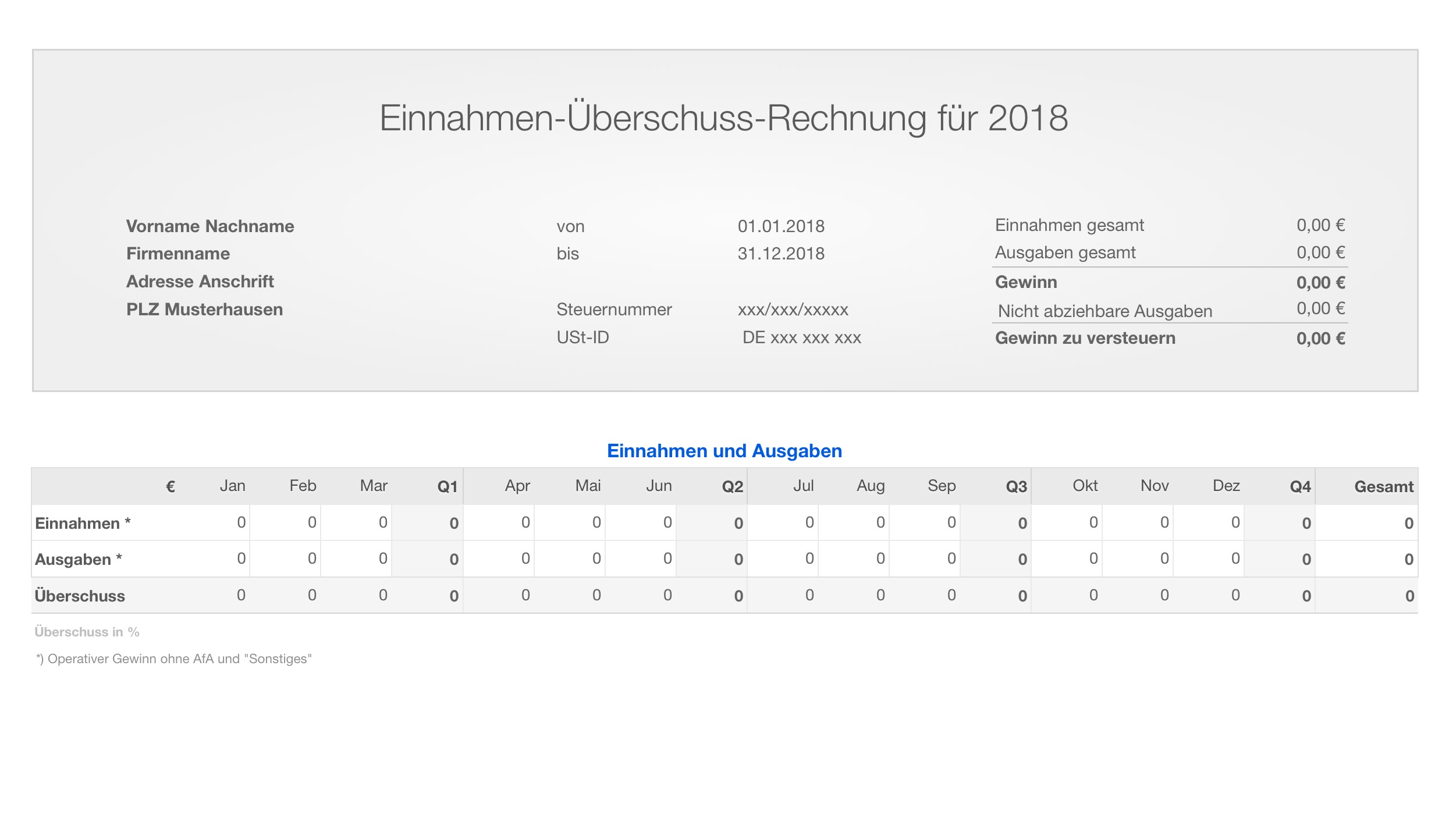 einnahmen berschuss rechnung 2018 ohne ust fr mac und ipad - Einnahmen Uberschuss Rechnung Beispiel