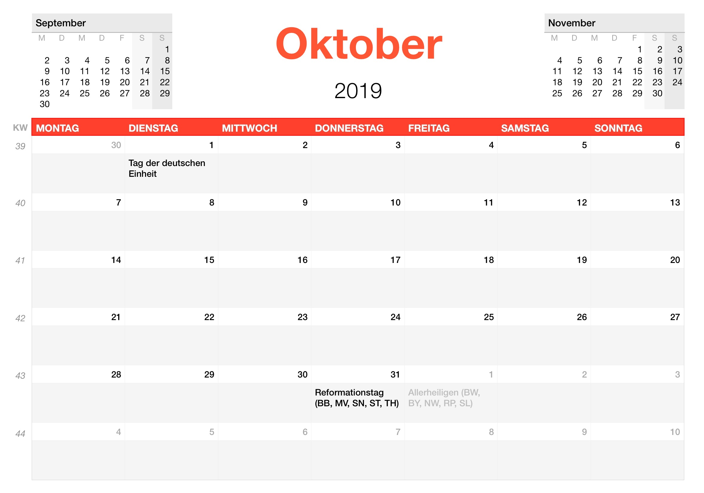 numbers vorlage kalender 2019. Black Bedroom Furniture Sets. Home Design Ideas