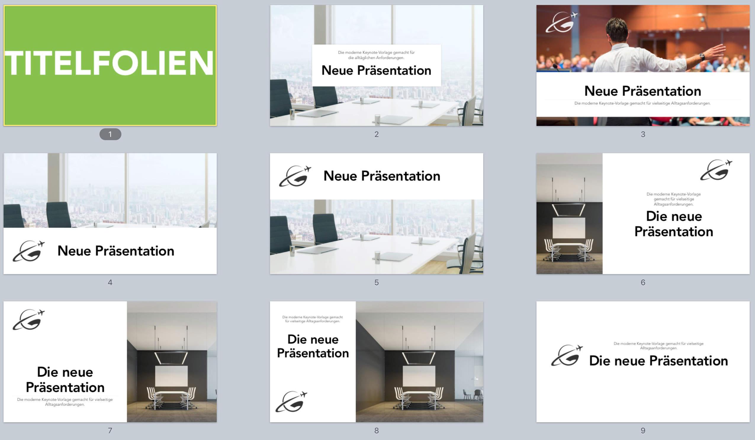 Keynote Vorlage Universal Präsentation Modern Basics ...