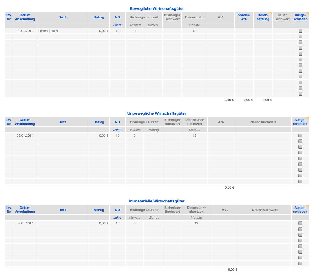Vorlage Einnahmen-Überschuss-Rechnung 2014 ohne USt für Mac und iPad ... buono sconto bwin 2016 | buonosconto.it
