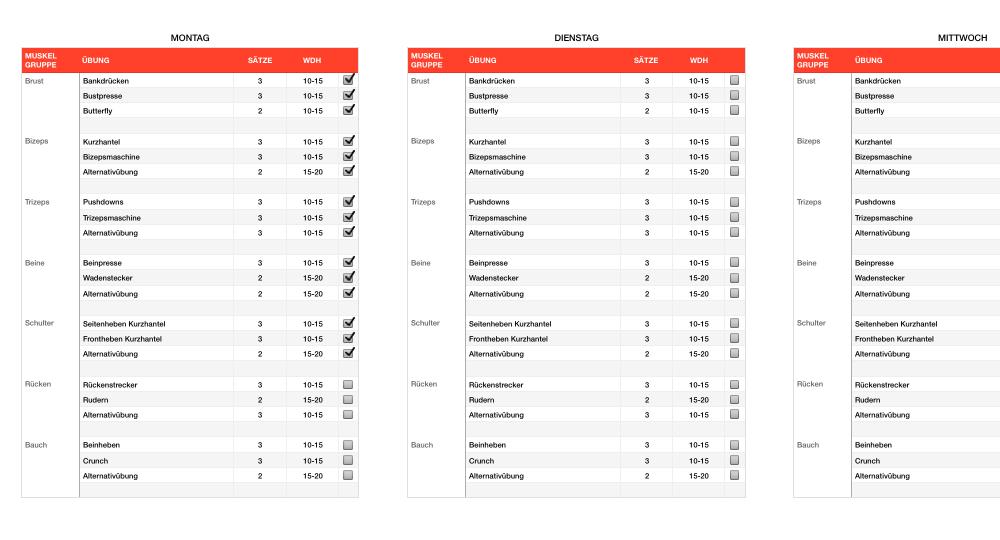 numbers vorlage trainingsplan fitness ganzk rpertraining. Black Bedroom Furniture Sets. Home Design Ideas