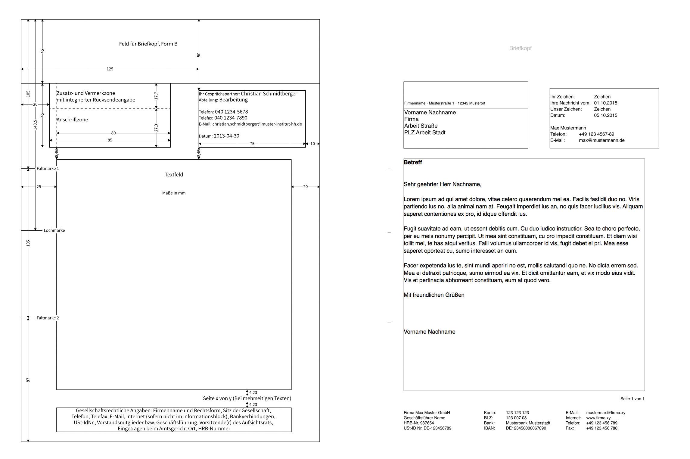 Brief Din Lang Maße ᐅ Briefumschlag Beschriften Briefkopf Vorlage
